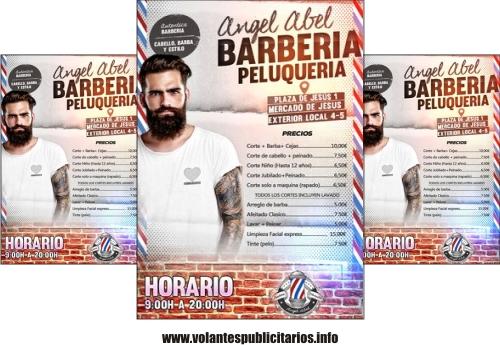 Modelo de flyer para barbería y peluquerías