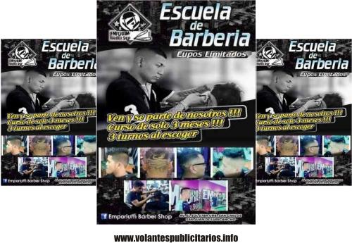 Publicidad para barbería en formato de flyer
