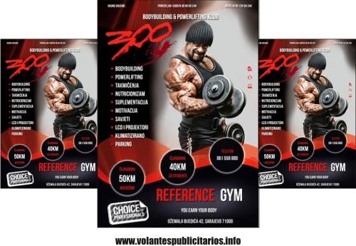 Publicidad para gimnasio en formato de flyer
