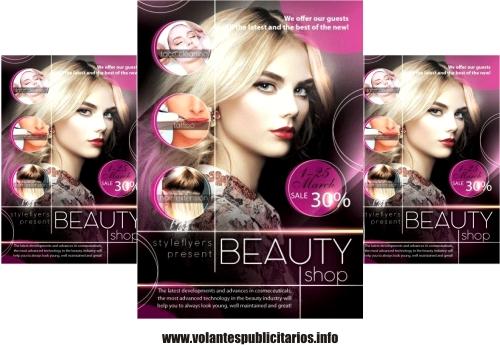 Publicidad para salón de belleza