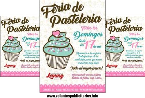 Flyer para pastelería