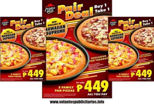 Flyer para Pizzería