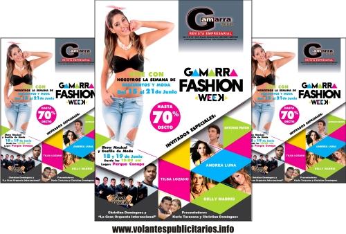 Flyer publicitario para tienda de ropa