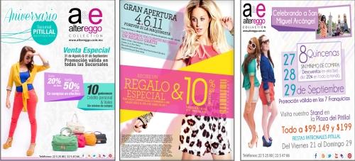 Flyer publicitario para ropa femenina