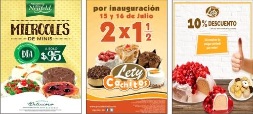 Publicidad para venta de tortas