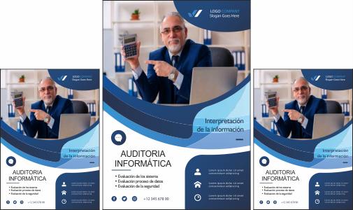 Modelo de flyer para auditor informático