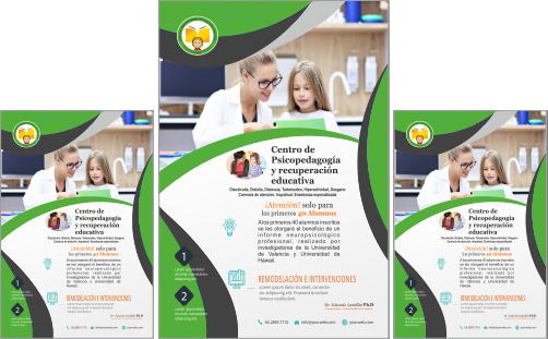 Modelo de  Flyer de Psicólogo Educativo